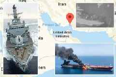 HMS Montrose 'aims guns at Iranian boats trying to seize British oil tanker'