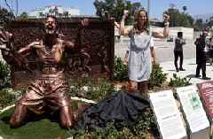 Brandi Chastain's iconic Women's World Cup celebration commemorated with statue
