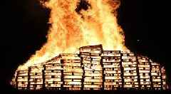 Eleventh Night bonfires across Northern Ireland see 40% decrease in incidents - pictures and videos