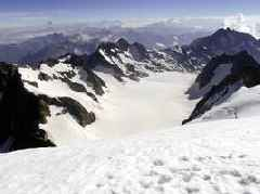 European Heat Wave Creates New Glacial Lake High In The French Alps