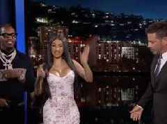 Cardi B + Offset Pull Through For JIMMY KIMMEL LIVE W/ Hilarious NEW LYRICS FOR OLD PEOPLE Segment + CLOUT Performance