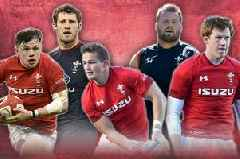 The five players all fighting each other for just one place in the Wales Rugby World Cup squad