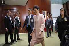 Hong Kong Chief Executive Carrie Lam blasts violence at Yuen Long and liaison office, amid ...
