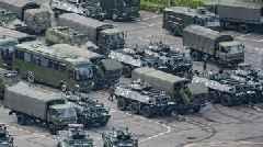 Chinese Paramilitary Police Gather For Drills Near Hong Kong Border