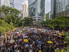 Over 470,000 people in Hong Kong say no to violence