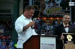 Josh Hamilton Rangers is a Hall of Famer | Texas Rangers Hall of Fame Ceremony
