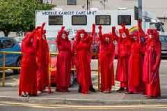 Extinction Rebellion protesters greeted Boris Johnson in Cornwall