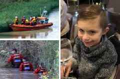 Body found in search for six-year-old boy who fell into a river while fishing with his dad