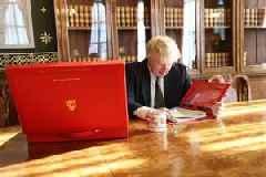 Boris Johnson puts his feet up in Emmanuel Macron's palace, labelled 'rude'