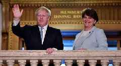 DUP's Foster applauds Boris Johnson ruling out of backstop after days of rumours