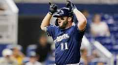 Mike Moustakas Homers Twice as Brewers Beat Marlins, Tie Cubs for Second Wild-Card