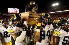 Iowa Hawkeyes claim fifth straight Cy-Hawk Trophy in 18-17 nail biter