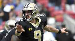 Saints' Drew Brees Questionable to Return vs. Rams With Hand Injury