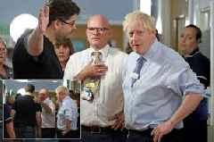 Boris Johnson confronted at hospital by furious dad over 'NHS being destroyed'