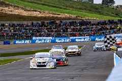 Rory Butcher gets the Knockhill home crowd roaring in the BTCC