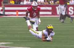 Mike Pereira strongly disagrees with overturned Michigan catch call vs. Wisconsin