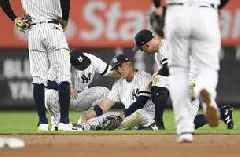 Torres tumbles, AL East champ Yankees fall to Blue Jays 4-3