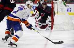Carolina beats Isles 5-2 for best start in franchise history