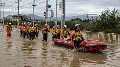 Rescue Crews In Japan Search For Survivors Following Typhoon Hagibis