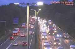 Live updates as two-car accident causes long delays on the M4 at Newport