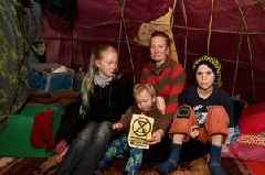 Pre-teen daughter refuses to live in tent and leaves after mum takes her kids to live in the woods as part of Extinction Rebellion protest
