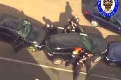 Watch: Tasered Musbashar Hussain overpowers half a dozen officers and runs PC Gareth Phillips over in a police BMW