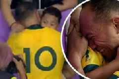 The most beautiful moment of the Rugby World Cup unfolded minutes after Australia's defeat to England
