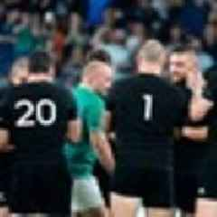 2019 Rugby World Cup: All Blacks touching tribute for 'legend of the game' after Ireland thumping