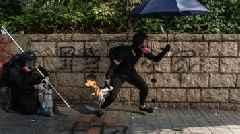 Hong Kong Protesters Defy Protest Ban