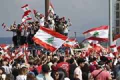 Protesters keep pressure on Lebanese government as they gather for day four of demonstrations