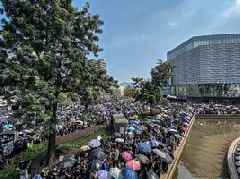 Marchers in Hong Kong defy ban, clashes erupt across city