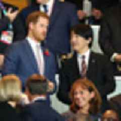 2019 Rugby World Cup: Prince Harry cheers on England at Rugby World Cup final
