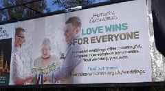 Same-sex marriage billboards put up in Belfast