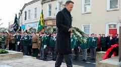 Leo Varadkar and Julian Smith lay wreaths in Enniskillen as Northern Ireland marks Remembrance Sunday