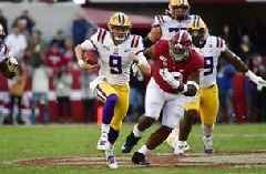 Burrow, No. 1 LSU hold on for 46-41 win over No. 2 Alabama