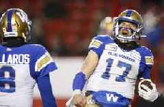 Blue Bombers beat Stampeders 35-14 to reach CFL's West final