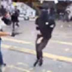 Hong Kong protester shot by police at point-blank range