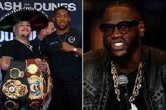 Deontay Wilder brutally taunts Anthony Joshua over Andy Ruiz defeat