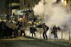 Photos show Hong Kong protesters resorting to medieval weapons