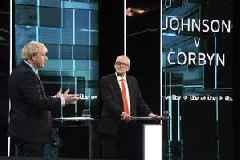 No Clear Champ as Johnson, Corbyn Spar in UK Election Debate