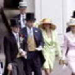 Prince Andrew, Jeffery Epstein and Ghislaine Maxwell pictured at the Ascot races