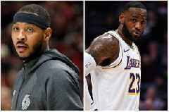Carmelo Anthony defends LeBron James after failing to join the Lakers