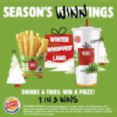 BURGER KING® Restaurants Announces Winter Whopperland Sweepstakes
