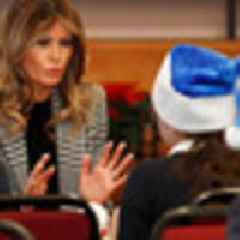 First Lady Melania Trump makes surprise drop in at Salvation Army in London