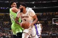 Davis scores 50, Lakers deal Wolves 142-125 loss