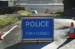 Live updates as road closed in both directions after crash