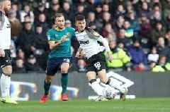 Derby County fans had this message for the EFL against Hull City