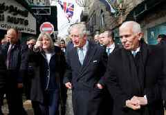 Prince Charles tours Palestinian territories during Middle East visit