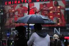 Storm Dennis: Met Office upgrade warnings ahead of Arsenal and Tottenham fixtures this weekend