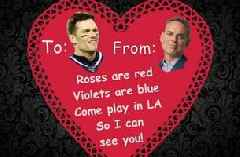 Colin hands out Valentine's Day gifts to some of his favorite sports figures
